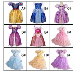 Wholesale 2018 Girls Dresses Party Princess Dresses With Cute Bow For Kids Summer Clothing colors for choose Hot
