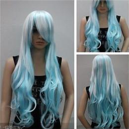$enCountryForm.capitalKeyWord Canada - Cos white blue mixed long wavy cosplay full wig