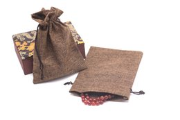 Chinese  Good and Cheap 25pcs 13x18cm Small Quantity Jute Snack pouches Jewelry Storage Packagings Wedding Gift Candy Favors manufacturers