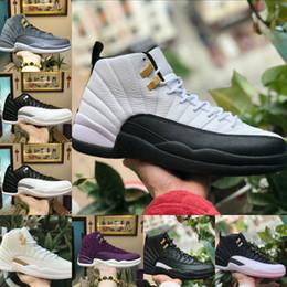 newest b90de b6646 2018 michael jordans 12 alta calidad 12s OVO blanco gimnasio rojo oscuro  gris baloncesto zapatos nike air jordan 12s hombres Taxi azul gamuza juego  juego ...