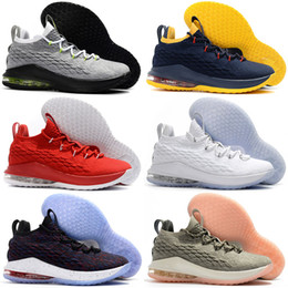 finest selection 541ea 17617 2018 New XV 15 Low Black White Red Oreo Mens Basketball Shoes for High  quality Designer 15s Zapatilla Sports Training Sneakers Size 40-46