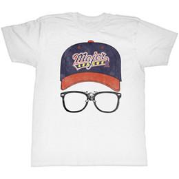 Discount boy custom shirts - Major League Ii Tall T-Shirt Cap Logo With Glasses White Tee T-Shirt Men Boy Harajuku Custom Short Sleeve Boyfriend'