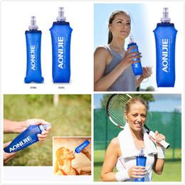 bottle folded 2019 - 250ml 500L TPU Folding Water Bag Soft Drink Water Bottle Flask for Outdoor Sport Running Hike Camping Drinkware LJJM92 c