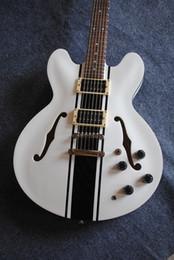 $enCountryForm.capitalKeyWord Canada - Hollow Tom Delonge ES-333 White Electric Guitar black stripes white ES 333 electric guitar