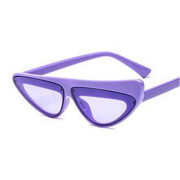 $enCountryForm.capitalKeyWord UK - Luxury Cat Eye Sunglasses Women Vintage Flat Top Small Size Frame Sun Glasses Female Black Red Eyewear Lunettes with box FML