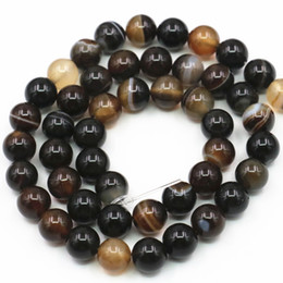 $enCountryForm.capitalKeyWord Canada - 2PCS 6mm 8mm Round Natural Onyx Agates Stone Loose Beads for Jewelry Making Brown Carnelian DIY Bracelet Necklace 15inch A351