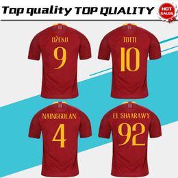 65649244171 2019 TOTTI Roma home red Soccer Jersey 18 19 DE ROSSI A.S.Roma Soccer Shirt  Customized DZEKO EL SHAARAWY short sleeve football uniform Sales