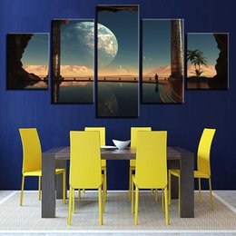 Art Canvas Prints Australia - Art For Living Room Canvas Painting Wall HD Prints 5 Pieces Fantasy Planets Pictures TV Play Poster Modular Framework Home Decor