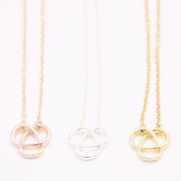Necklace three crosses online shopping - 2018 Hollow out Trillium pendant necklace cross three arc shaped pendant necklace designed for women Retail and mix