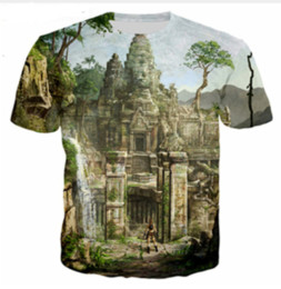 Wholesale tomb raider online – design Newest Fashion Mens Womens Summer Style Classic Games Tomb Raider Funny D Print Casual T Shirt DXR0062