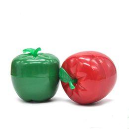 $enCountryForm.capitalKeyWord Australia - Smoking Dogo Red Green 3 Layer Apple Tomato Magnietic Herb Grinder PLastic Metal Grinders With Wholesale Price