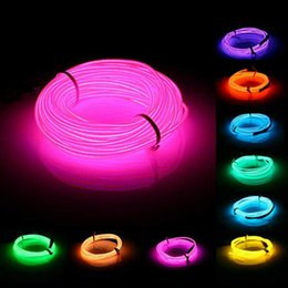 Wholesale Colorful V M EL Led Flexible Soft Tube Wire Neon Glow Car Rope Strip Light Xmas Decor