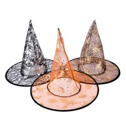 713e68f1921 1Pcs kids Adult Women Witch Hat For Halloween Costume Accessory Halloween  Supplies Party Hats Random color