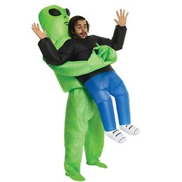 $enCountryForm.capitalKeyWord UK - Funny Green Alien Inflatable Costume For Adult Christmas Halloween Birthday Make-up Party Toys ET Dress Up Cosplay Suits Outfit