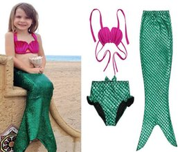$enCountryForm.capitalKeyWord Australia - 10set Girls Bikini Mermaid Tail Swim Suit Dress Infant Kids Swimsuit Swimwear Bathing Suits Summer Costumes set Y206