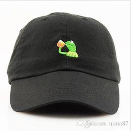 3b057275696d6 KERMIT NONE OF MY BUSINESS UNSTRUCTURED DAD HAT CAP FROG TEA LEBRON JAMES  NEW casquette kenye west ye bear dad cap