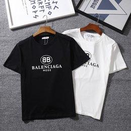 Мужчины футболка Марка BB MODE логотип письмо печатных футболка с коротким рукавом женщины хип-хоп улица открытый одежда Kanye West топы футболка Homme
