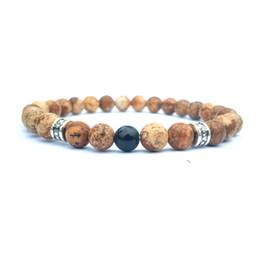 Chinese  10pc set free shipping gemstone beads bracelet 6mm picture jasper bracelet for men women handmade jewelry manufacturers
