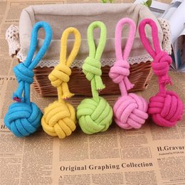 Knotting rope online shopping - 1pcs Puppy Cotton Durable Braided Pets Chews Play Dog Chew Rope Pet Supplies Interesting Props Single Knot Toy High Quality rca Z