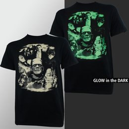 Glow Shirt S NZ - Universal Monsters Collage Dracula Frankenstein Bride Glow T-Shirt S-2XL NEW