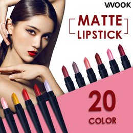 dark red matte lipstick Canada - Matte Lipstick Long Lasting Red Lip Stick Makeup Brand Comfortable Make Up Moisturizer Cosmetic melted mate rouge a levre lot