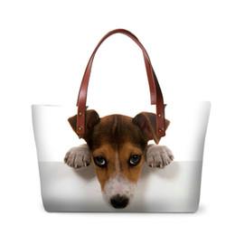 Cute Animal Tote Bags Canada - New Luxury Handbags Totes Bags For Women Cute Jack Russel Dog Pattern Lady Fashion Top-handle Bag Female Fashion Animal Shoulder Bag Handbag