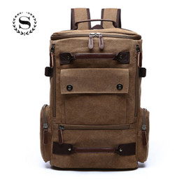 $enCountryForm.capitalKeyWord Canada - Solid Large Capacity Casual Backpack for Men Boys Waterproof Designer Laptop Bags Business High Quality Canvas Rucksack