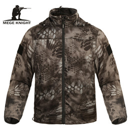 Military Camouflage Clothing NZ - Mege Brand Clothing Summer Men Jacket Tactical Camouflage Military Ultra Light UV Sun Protection Breathable Fast Dry Casual D18101006