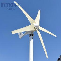Vendendo 400 W / 500 W / 600 24 V 5 pale basso start up velocità orizzontale residenziale generatore di turbina eolica basso prezzo fabbrica alta buon più economico in Offerta