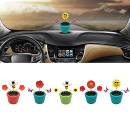 1f840a3dd87d6 Car Solar Powered Dancing Flower Swinging Animated Dancer Toy Car Decoration  New Ornaments Accessories