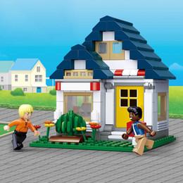 $enCountryForm.capitalKeyWord UK - Sluban B0569 204Pcs My Gym SimCity Large Scene Building Blocks Girls Enlighten Blocks Educational DIY Bricks Toy For Children