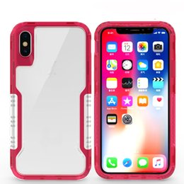 Cellphone siliCone Case Cover online shopping - Top cellphone back cover clear robot case Hybrid TPU Rubber Hard Rugged Armor Phone Case for samsung note S9 S8 PLUS IPHONE X PLUS
