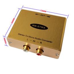 Convertitore da Stereo a Mono Audio con uscita di isolamento Adattatore stereo / mono Mixer audio Hi-Fi con uscita di isolamento mono 2 canali in Offerta