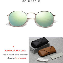 Styrene glaSS online shopping - 2018 fashion Retro Round Sunglasses Mirror Gradient G15 Glass Lens Round Metal Sun glasses vintage