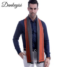 Long Striped Scarf Australia - DANKEYISI Man Winter Scarf Men Striped Cashmere Scarf Male Soft Knit Cashmere Bufandas Striped Long With Tassels