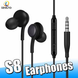 EarphonE mic handfrEE hEadsEt online shopping - For Samsung S8 Earphones Wired mm Mini Headset Stereo Sound Earbuds Volume Control Mic Handfree for Galaxy S8Plus S7 with Retail Box