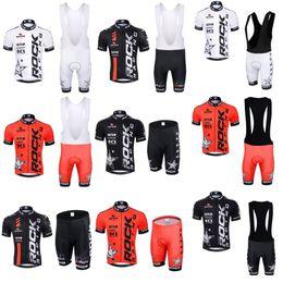 red white blue bib shorts 2019 - ROCK RACING team Cycling Short Sleeves jersey (bib) shorts sets Breathable Bicycle Mountain MTB cycle clothes ropa cicli