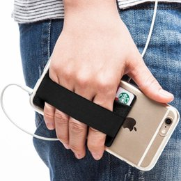 Universal Smartphone Wallet Australia - Phone Grip with Credit Card Holder, Stick on Phone Wallet with Phone Finger Gripper Storing Strap Pocket for Smartphone ipad iphone