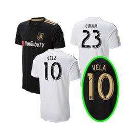 2018 LAFC Soccer Jersey home Black away white MLS Los Angeles FC soccer  Shirt GABER ROSSI VELA CIMAN ZIMMERMAN Customized football uniform 20666b769