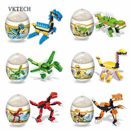 Plastic Dinosaur Eggs Canada - Baby Toys Plastic Puzzles Baby Montessori Toys Assembly Deformation Eggs Dinosaur Puzzle Toys for Children Toy Random