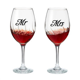 Discount presents wine - Mr & Mrs Wine glass jar wedding Decal Stickers , wedding gift sticker engagement party present love of 3 pairs