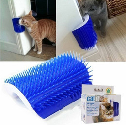 $enCountryForm.capitalKeyWord Canada - New Aarrival Cat Scratch Brush Comb Play Toy Plastic Bristles Arch Self-Groomer Massager Scratcher With Catnip Nailed To Wall Hair Removal