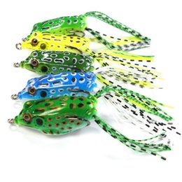 Discount walleye lures - 5pc lot Topwater fishing with High carbon Soft frog Bait 5.5CM 8G Salt Fresh Water Bass Walleye Crappie Minnow Fishing L