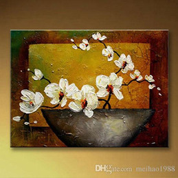 Bar Paintings Australia - Free shippingCoffee bar Art Flower Handpainted Oil Painting On Canvas Modern Picture Palette Knife Painting Canvas wall painting hand painti