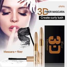 $enCountryForm.capitalKeyWord NZ - Niceface 2pcs Set Eyes Makeup 3D Fiber Mascara Natural Curling Magic Extended Lengthening Eyelash Waterproof Cosmetics Eyes Kits