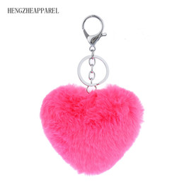 $enCountryForm.capitalKeyWord Canada - 2018 Keychain heart Cute Imitation Rabbit Key Bag Pendant Fur Accessories Key Holder For Women girls baby holder