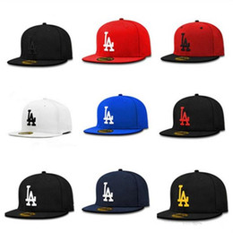 Black BaseBall caps online shopping - Letter Embroidery la Snapback Adjustable Hip Hop Mens Snapback Hats Street Dancing Skateboard Cap Lady Fashion Baseball Hat Drop Shipping