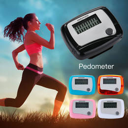 Pedometer Bracelets Canada - Pedometer Step Counter Simple ABS Single Button Digital LCD Bracelet Sport Watch Runn Step Walking Distance Electronic Portable