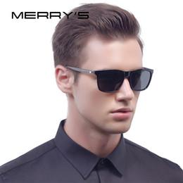 72f870d81f0b MERRY'S Fashion Unisex Retro Aluminum Sunglasses Men Polarized Lens Vintage  Sun Glasses For Women Square Male Sunglasses S'8286