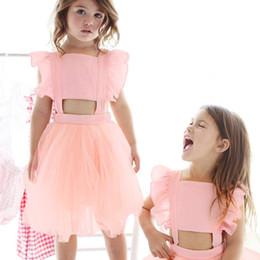 7a042a120 Hot Baby Girls Princess Dress 2018 Nuevo Verano Ropa de Baby Girls Color  Sólido Vestido Sin Mangas Niños Hilo Neto Vestidos Para Niñas Ropa Linda